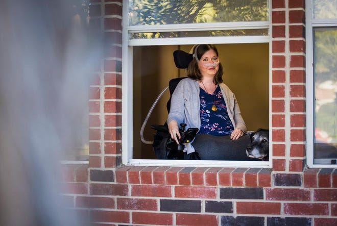 Laura Halvorson worries that the U.S. Supreme Court will strike down the health care law that has helped her live independently.