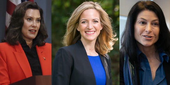 Governor Gretchen Whitmer, left,  Secretary of State Jocelyn Benson, middle and Attorney General Dana Nessel, right, are among Top Feminists of 2020, says Ms. magazine.