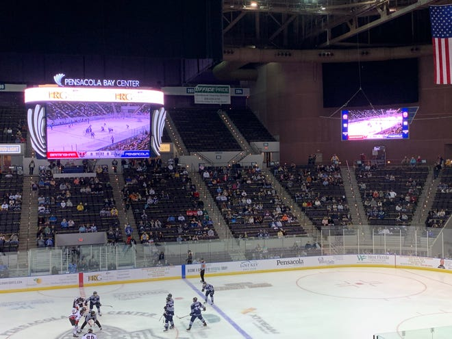 The Pensacola Ice Flyers opened the season with a win while new, high-def video boards made a debut.