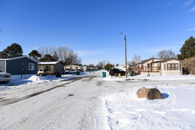 The corner of Pine Meadows Place and Sandalwood Place is quiet the day after a homicide occurred on Thursday, December 31, in Sioux Falls.