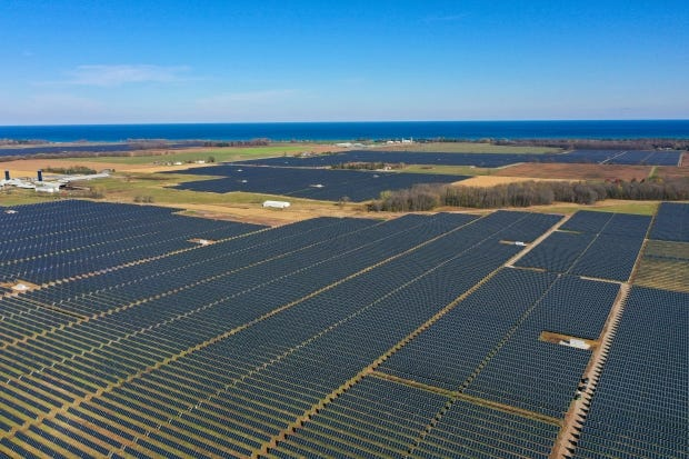 The Two Creeks solar plant in Manitowoc County went online in November. With half a million solar panels, the solar farm can provide enough power for 33,000 homes.