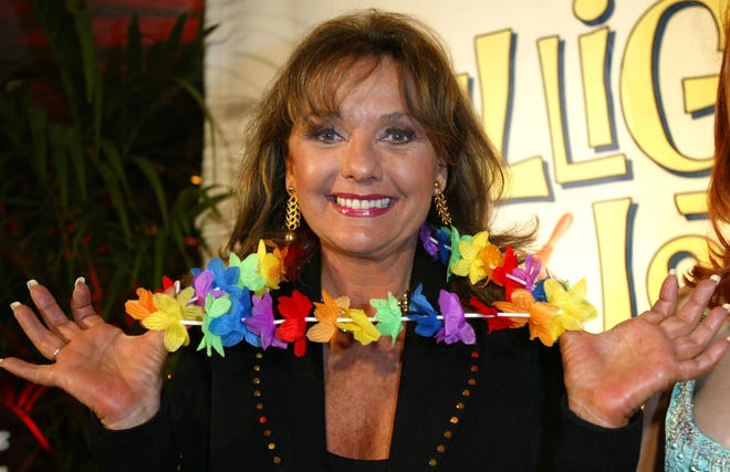 """Dawn Wells, seen in 2004 at a """"Gilligan's Island"""" boat party in Marina del Rey, California, played Mary Ann on the silly but beloved '60s sitcom. She died Dec. 30 at 82."""