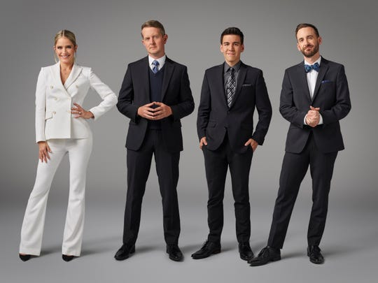 "Sara Haines hosts ABC's new game show, ""The Chase,"" featuring ""Jeopardy!"" hall of famers Ken Jennings, James Holzhauer, and Brad Rutter."