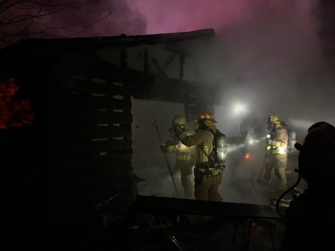 Austin Fire Department respond to a fire in North Central Austin caused by fireworks on New Year's Day.