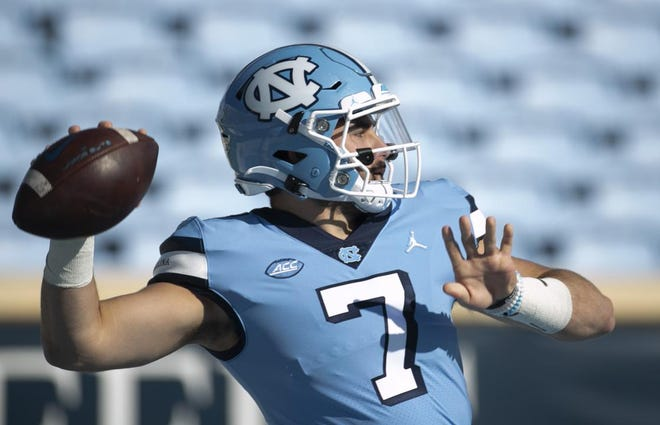 North Carolina quarterback Sam Howell leads the ACC in touchdown passes and has been the conductor of one of the most productive offenses in college football.