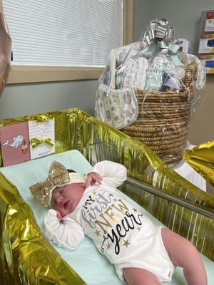 Victoria Rain Williams is Bay County's first new baby of 2021.
