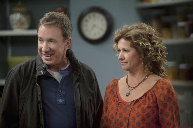 "Former metro Detroiter Tim Allen and Nancy Travis in ""Last Man Standing,"" which launches its ninth and final season Sunday on Fox. The sitcom ran six seasons on ABC before moving to Fox in 2018."