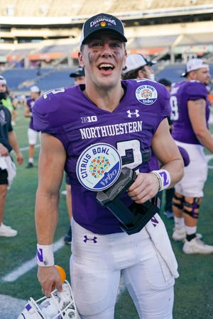 """""""We stumbled in a couple of games, but we wouldn't be where we're at today without Peyton Ramsey,"""" Northwestern coach Pat Fitzgerald said of the Citrus Bowl MVP."""