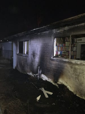 Fireworks caused an attic fire Thursday night, Dec. 31, 2020, at a residence near 43rd and Palo Verde avenues, Glendale fire officials tweeted.