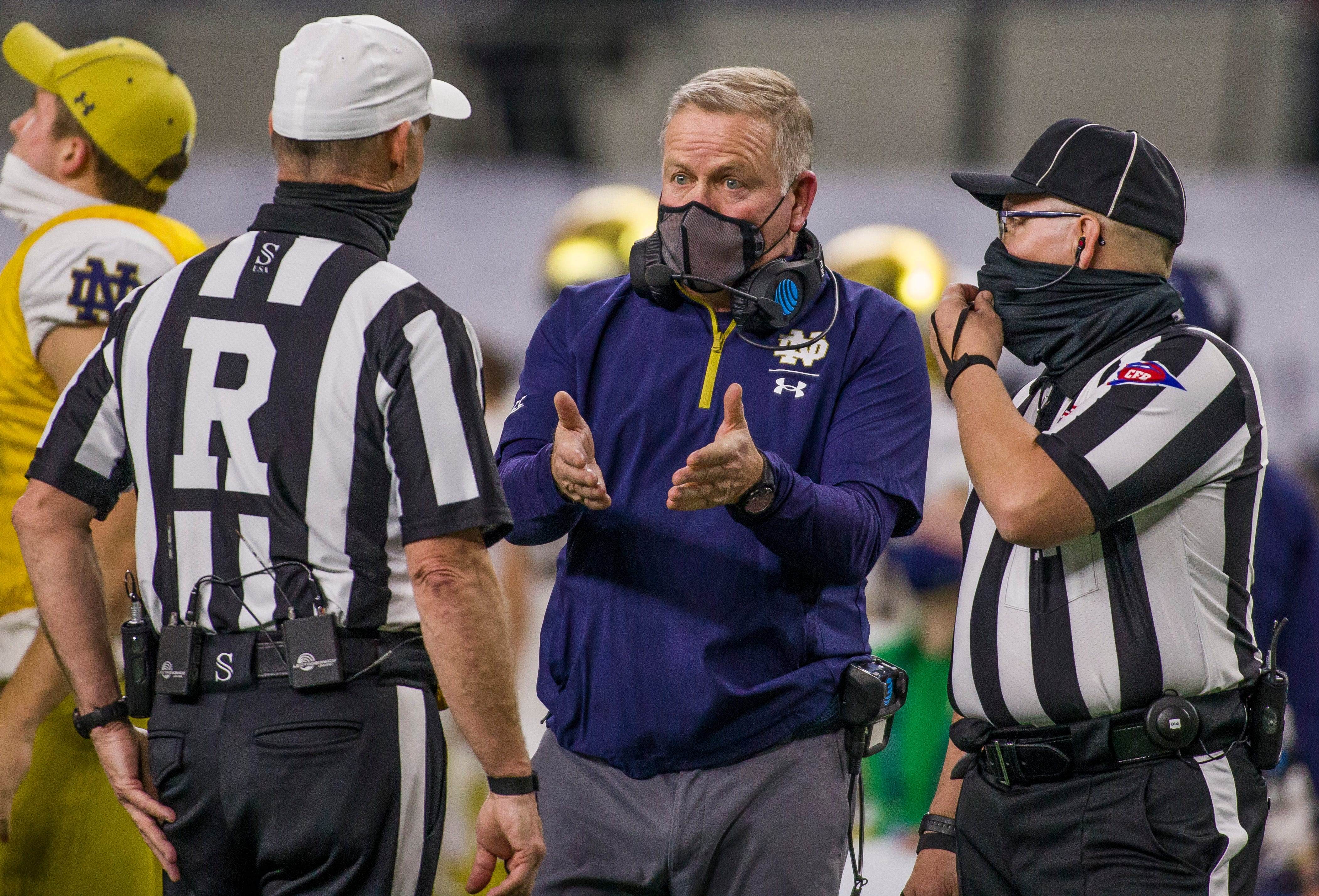 Notre Dame football on probation for two recruiting violations, report says