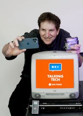 Jefferson Graham says goodbye to USA TODAY, with a vintage iMac, VCR, Flip and JVC video camera and the iPhone 12 Pro