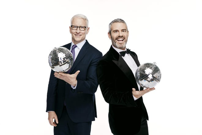 Anderson Cooper, left, and Andy Cohen, seen here in a photo promoting CNN's New Year's Eve special, were back this year for a very different Times Square celebration due to the COVID-19 pandemic.