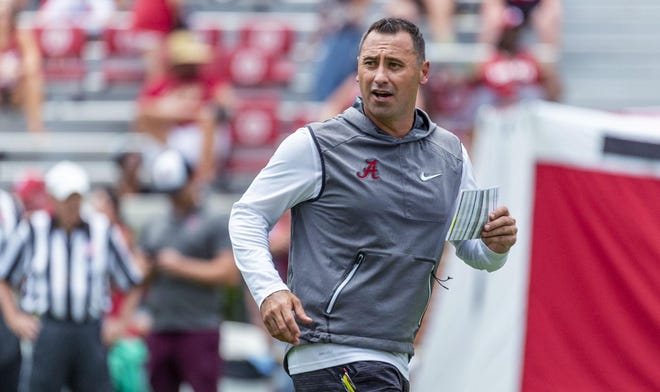 New Texas football coach Steve Sarkisian spent the past two seasons as Alabama's offensive coordinator. He takes over a UT team that went 32-18 over its four seasons with Tom Herman.
