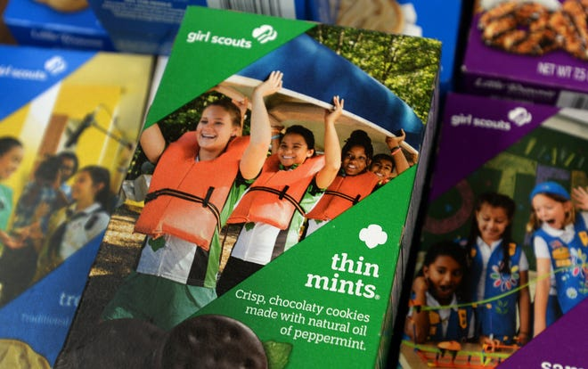 Boxes of Girl Scout Cookies will be for sale both online, by GrubHub and through individual Girl Scouts this year.