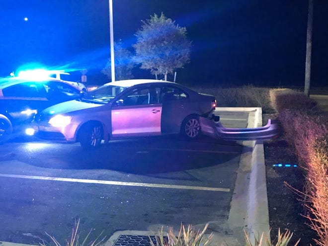 FHP stopped this vehicle in a Wawa parking lot in Ocala early Saturday after a chase.