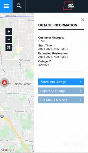 Nearly 2,000 residents in North Canton and Jackson Township lost electricity for roughly five hours Friday due to malfunctioning equipment.