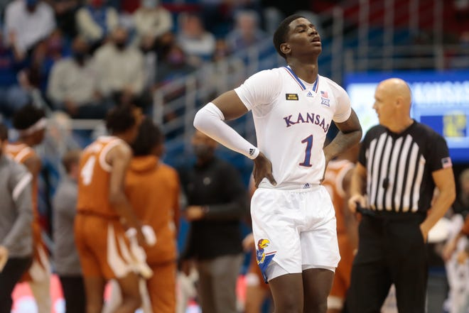 Kansas junior guard Tyon Grant-Foster has entered the transfer portal, head coach Bill Self announced Monday. Grant-Foster averaged 3.1 points and 2.2 rebounds across 8.2 minutes per game in his first season with the Jayhawks.