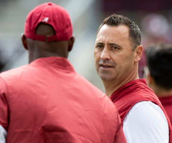 Alabama offensive coordinator Steve Sarkisian is the next football coach at Texas.