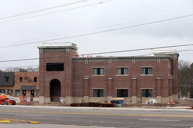 Armstrong Bank under construction, Saturday, Jan. 2, at 4102 Rogers Avenue. At $157.6 million, Fort Smith broke the city's year record for commercial building permit value in 2020.