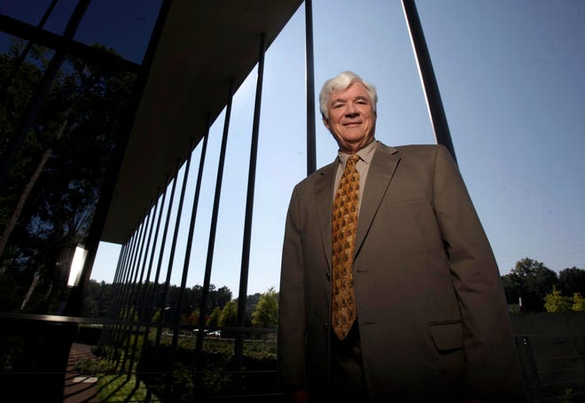 Jim Flemming is shown outside the Bank of Tuscaloosa Plaza, the office building on Jack Warner Parkway, in 2010.