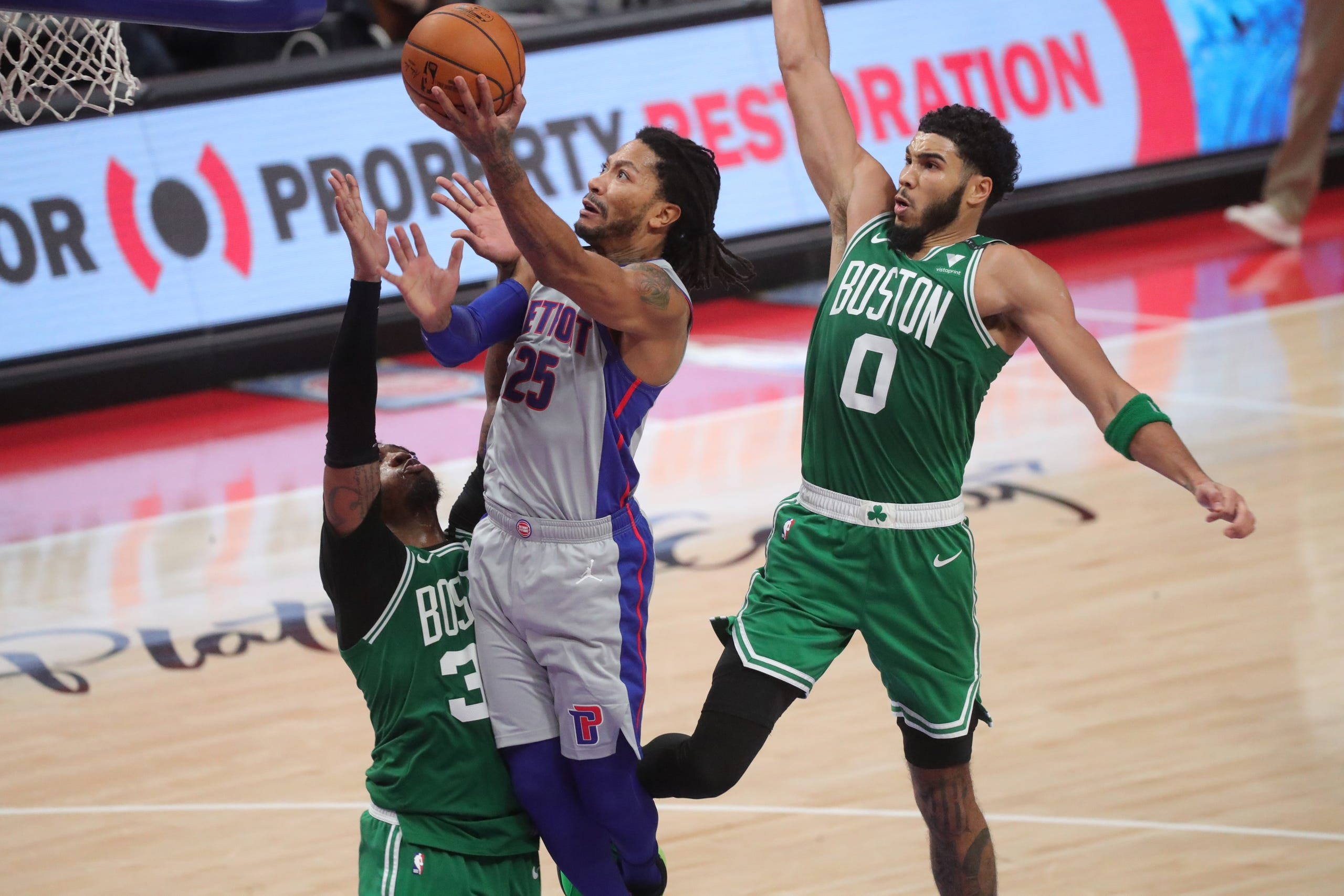 Detroit Pistons 96, Boston Celtics 93: Best photos from first win