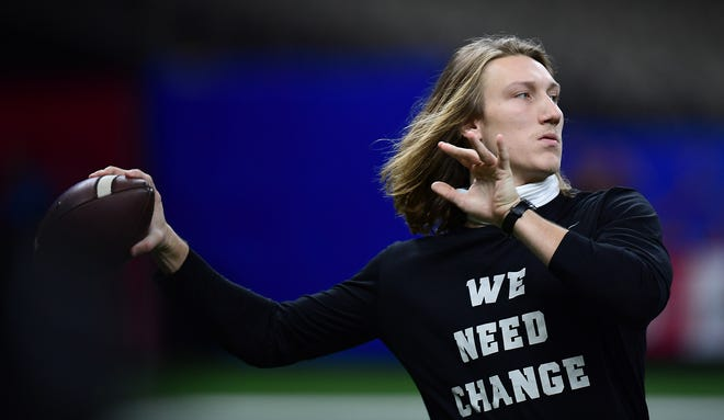 Trevor Lawrence was announced Tuesday night as the runner-up for the 2020 Heisman Trophy Award.