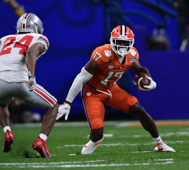 Clemson wide receiver Cornell Powell makes a move against Ohio State in the Sugar Bowl national semifinals game in New Orleans.