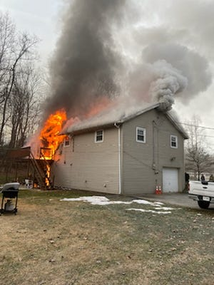 Firefighters extinguished a residential fire on Friday Jan. 1, 2021 in Dover Township.