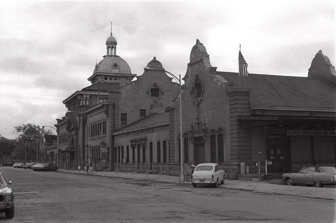 The old Union Railroad Station at Walker and Ford streets.