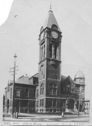 Dover's third City Hall, including an Opera House, was built in 1891 and burned Aug. 3, 1933. The first two city halls also burned.