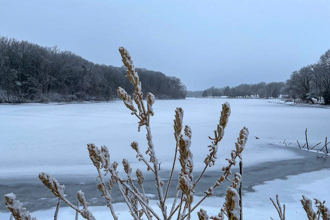 A combination of snow, ice and fog made for a winter wonderland Sunday, Jan. 3, 2021, at Lake Storey Park and Lincoln Park in Galesburg.