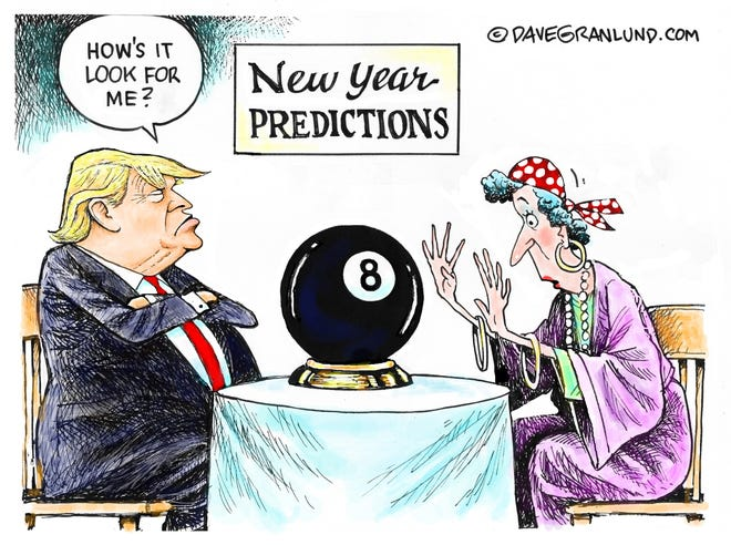 Dave Granlund cartoon on Trump's fortunes in a new year