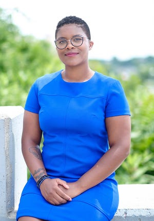 """Tiara Mack will become the state's first Black, queer, poor, Ivy League-educated  female to win a seat in the RI Senate. Her posing with two other women of color in a glamor shot on the the State House steps has resulted in NBC10 and Gene Valicenti deciding to hold Valicenti's latest """"10 News Conference"""" for a week in an effort to add more voices to the story."""