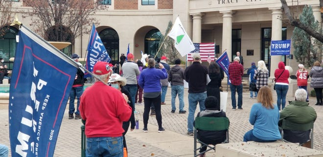 """Stop the Steal"" rally attracted President Donald Trump supporters on Saturday in Tracy."