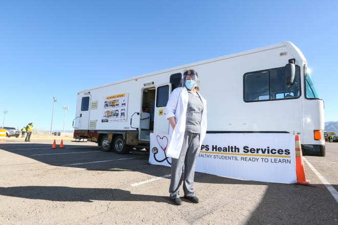 Lias Patch is pictured at an Alamogordo Public Schools health services event in Alamogordo on Saturday, Jan. 2, 2021.