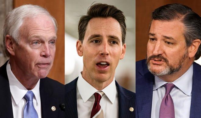 Republican Sens. Josh Hawley of Missouri and Ted Cruz of Texas.