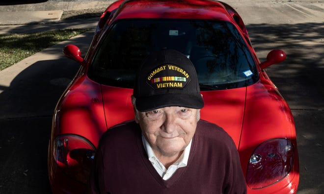 """Luke Graves, 85, is a former Vietnam War jet fighter pilot and unexpected podcast star with """"Hairy,"""" a well-produced season of six Vietnam War stories produced by his son, Matt Graves. He still likes speed, which explains the Ferrari."""