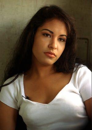 Selena Quintanilla-Pérez in San Antonio in April 1994, a year before her death.