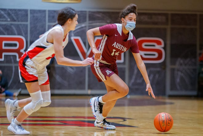 Aubrey Reid, a sophomore guard for Austin High, had a phenomenal game in the Maroons' 72-32 win over Lake Travis with 18 points, two rebounds, three steals and four assists.