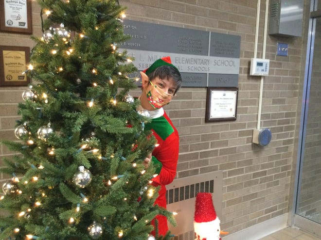 Elf on the Shelf greeted B.L. Miller Elementary School students before they headed off to their winter break. Students returned to class on Monday.