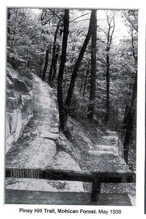 This 1938 photo from the Mohican State Forest archives shows the Piney Hill Trail.
