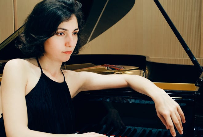 """Award-winning pianist Ana Glig will be part of a virtual """"Eclectic Piano Concert"""" Tuesday with James Rosenblum, presented by Brewster Ladies Library."""