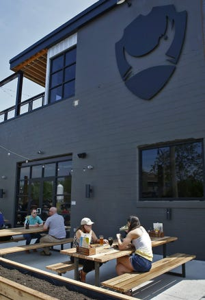 BrewDog announced Monday that it is temporarily closing its Franklinton brewpub, shown here in a 2018 photo.