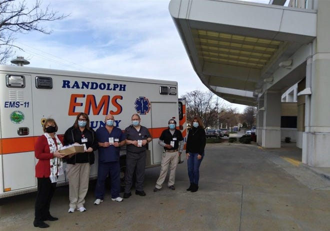 Randolph Health staff and a group of paramedics were recognized by Randolph County Farm Bureau Women's Committee for their care of patients during the pandemic.