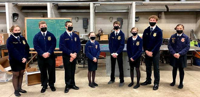 The Northwestern FFA Novice Parliamentary Procedures team placed fourth in state competiton.
