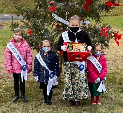 Members of the Wayne County Junior Dairy Promotion (Lil Dairy Miss Truly, Lil Dairy Miss Emily, Dairy Miss Eliza and Lil Dairy Miss Evy) wanted to bring some holiday cheer to Ellen Memorial.