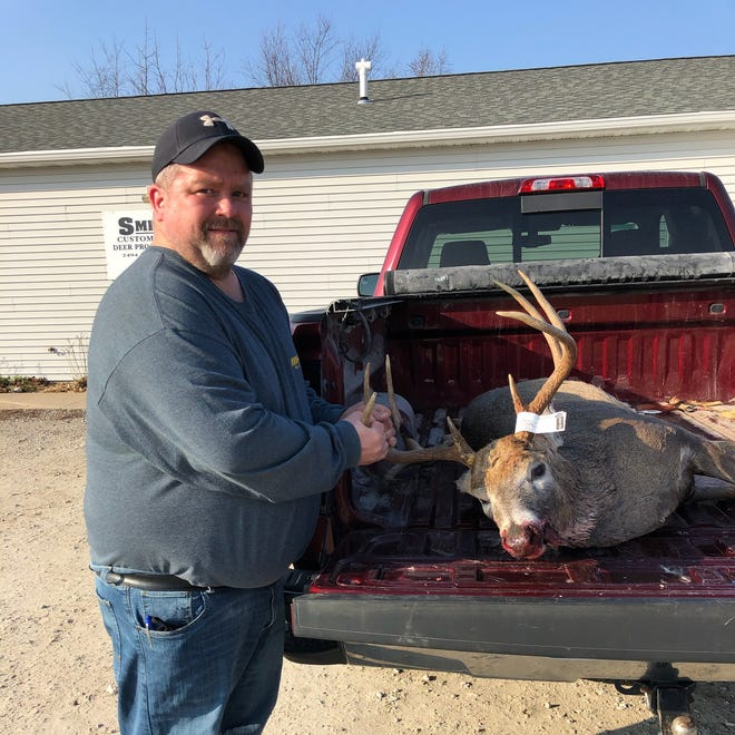 David Anderson, Orion, recently got this deer while hunting in Henry County.