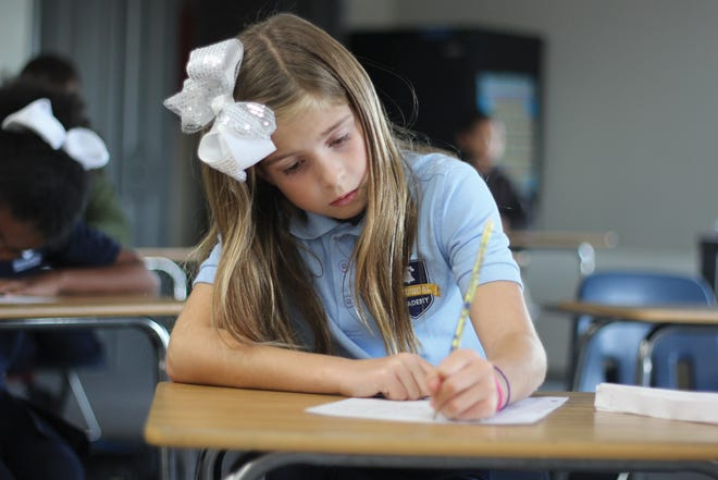A student is pictured working at one of Responsive Education Solutions' existing schools. The company expects that two Texoma campuses will be open for students this fall.
