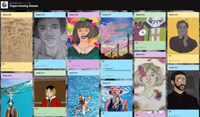 Peoria High School art teacher Meredith Popp created a virtual art gallery last fall so student work can still be displayed while classes are being held virtually. Prior to the pandemic, work was displayed in the school and in places around the community.