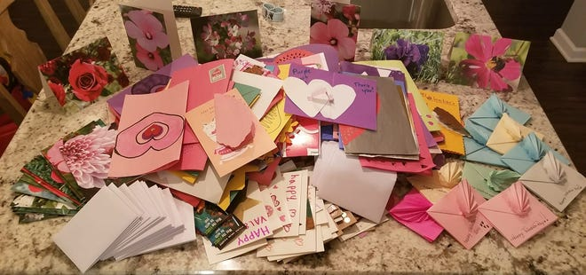 More than 12,000 valentines were collected during last year's Operation Valentine's Day and were distributed to troops serving overseas.